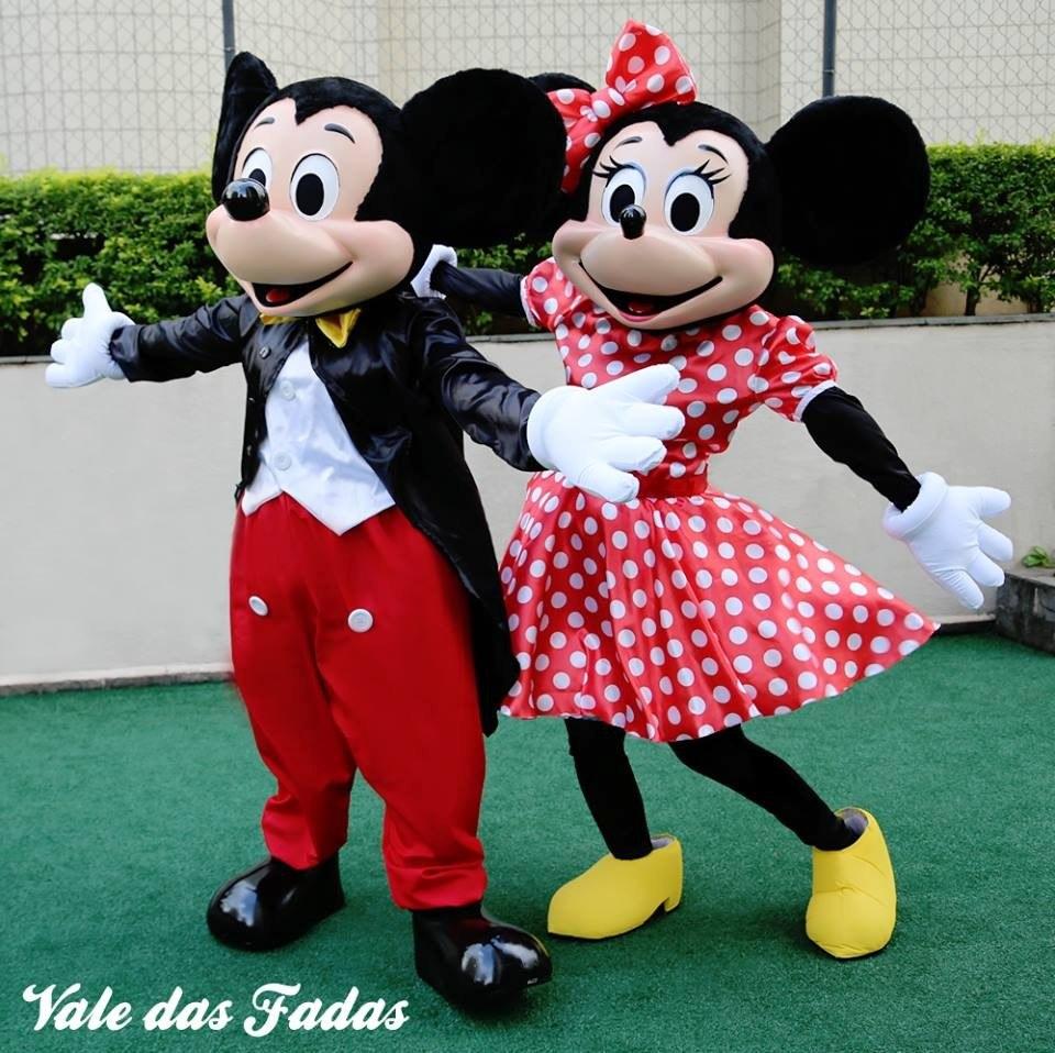 b1226531ca Fantasia Mascote Mickey Minnie Em Fibra - R$ 3.500,00 em Mercado Livre