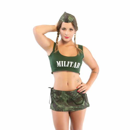 fantasia militar saia