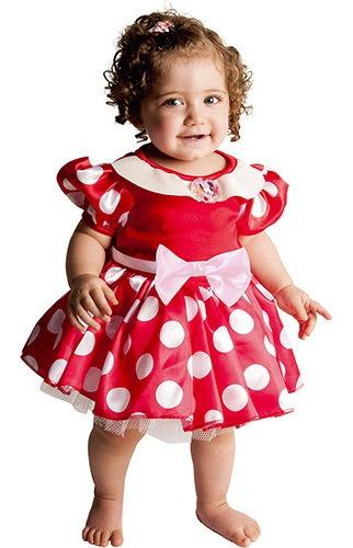 fantasia minnie baby original vermelha tam 1 a 2 anos rubies