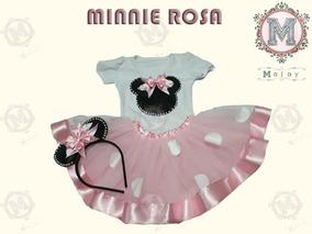 f7a600888f Fantasia Minnie Rosa Luxo Elo 7 no Mercado Livre Brasil