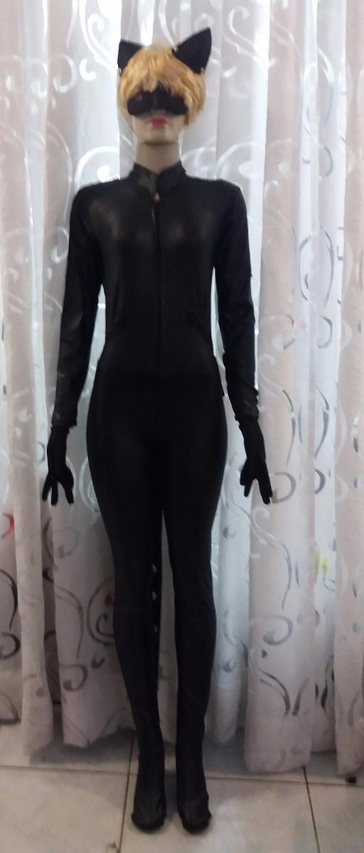Fantasia Miraculous Lady Bug Cat Noir Completa Adulto R