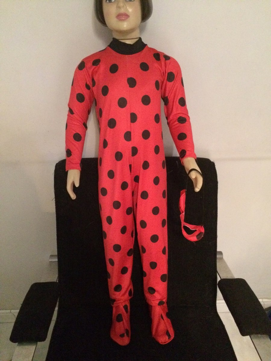 7b22eaf4b681bd Fantasia Miraculous Ladybug ..completa ,,mascara E Macacão
