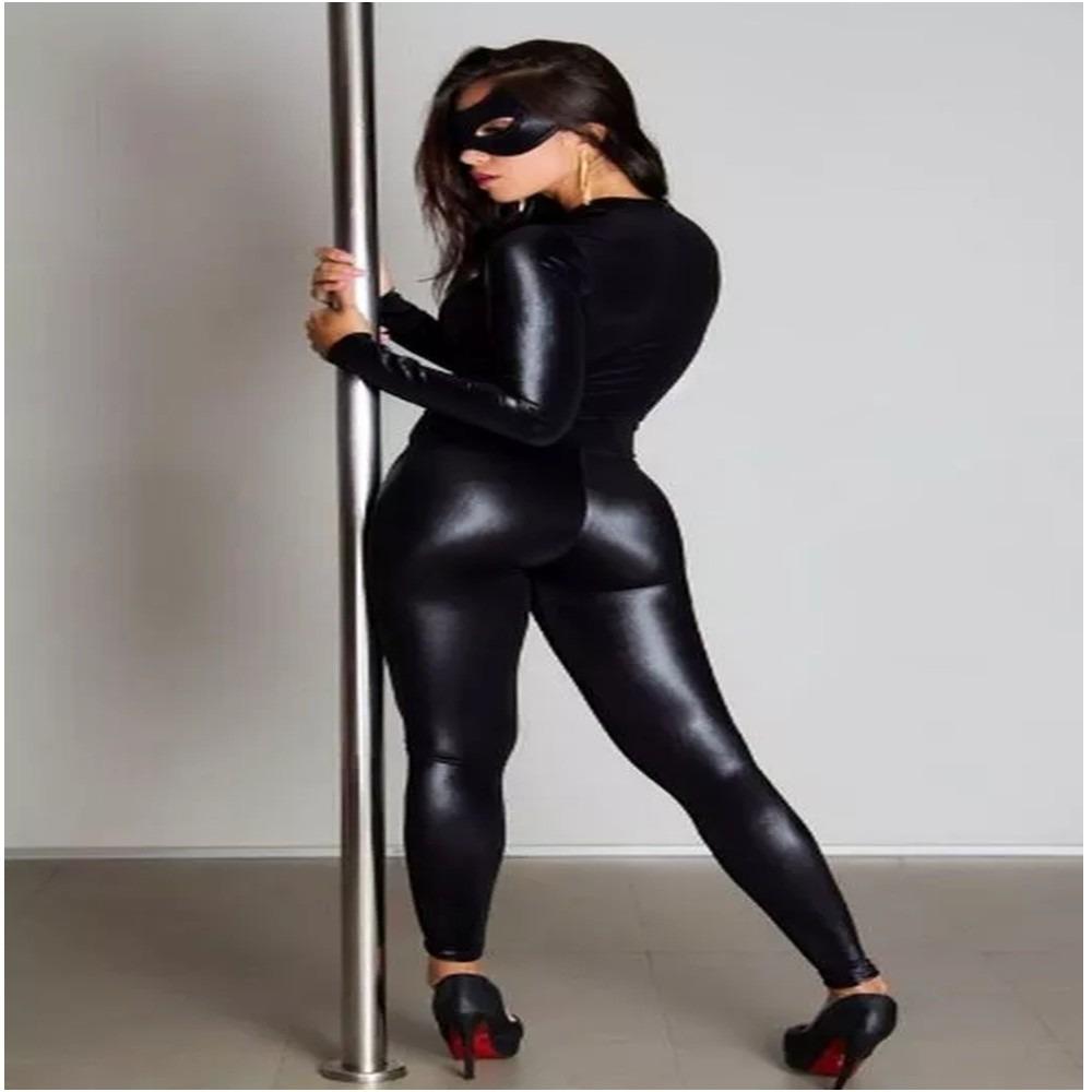 279f404f3 fantasia mulher gato lingerie sexy dominadora sado macacão. Carregando zoom.
