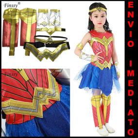 06c37f8b67 Fantasia Infantil Mulher Maravilha 4 A 5 Anos no Mercado Livre Brasil