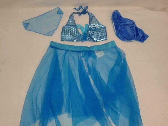 2d9d5f56d8 Fantasia Odalisca Azul Infantil M (6 A 8 Anos) - R$ 69,00 em Mercado ...