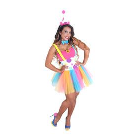 e435caed46224c Fantasia Palhaça Adulto - Heat Girls