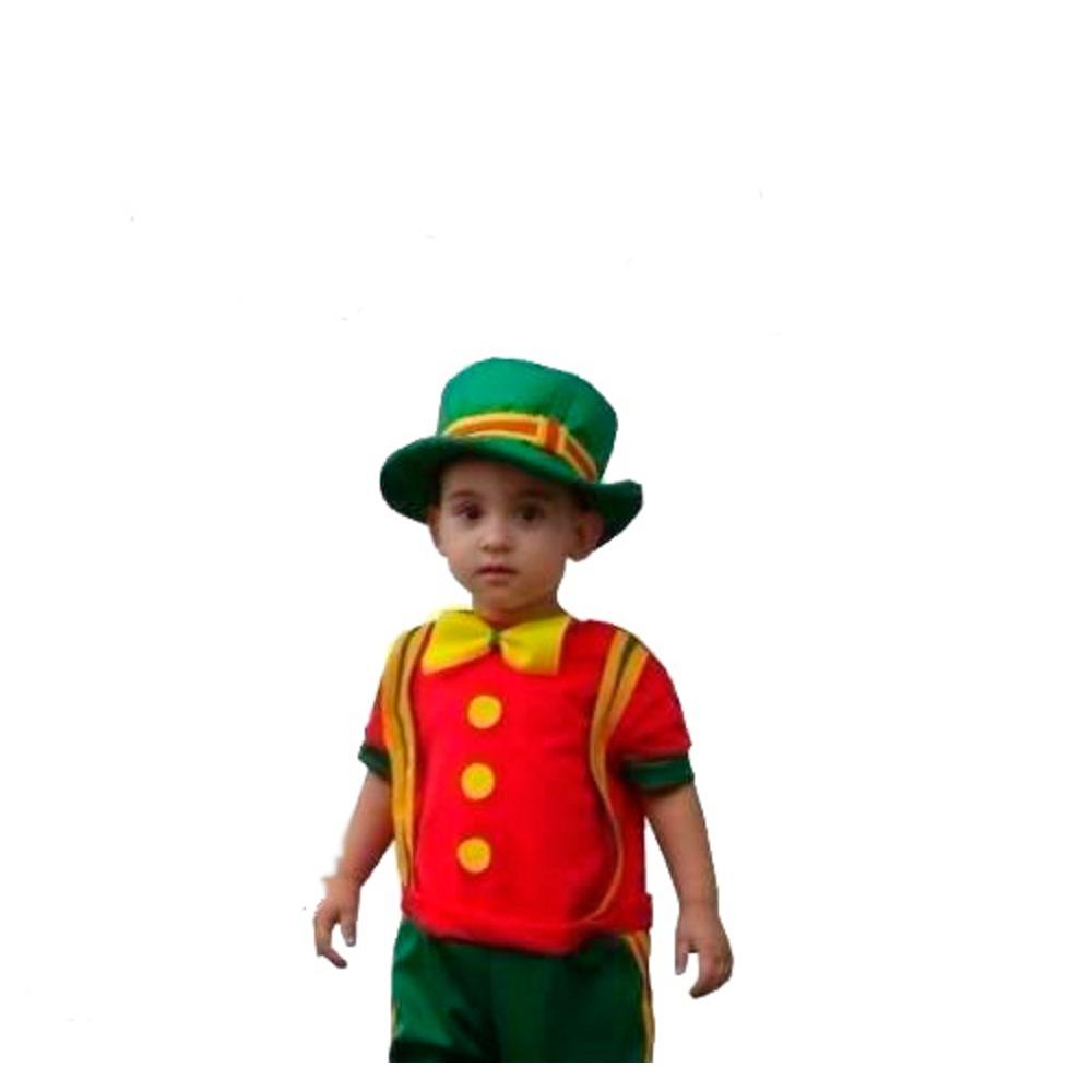 fantasia palhaço patatá infantil c  chapéu envio em 24 horas. Carregando  zoom. 747b96ed7db