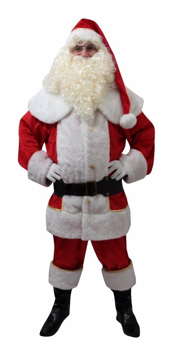 9e251128e Fantasia Papai Noel Roupa Super Luxo Veludo (sem Acessórios) - R ...