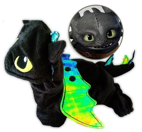 fantasia para cachorro gato dragão banguela roupa pet