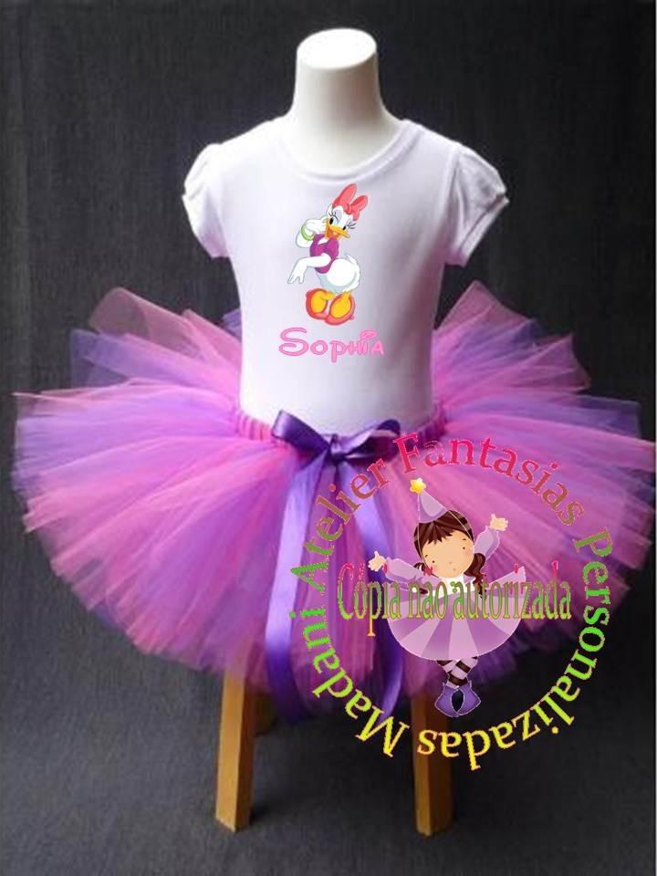 5105af4c19 Fantasia Personalizada Tutu Margarida Disney Luxo 1 A 8 - R$ 96,77 ...