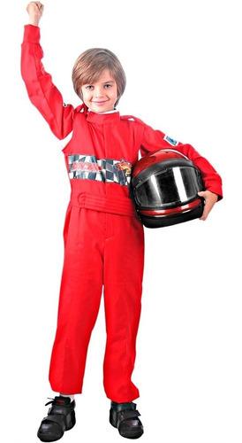 fantasia piloto de corrida vermelho original envio em 24h