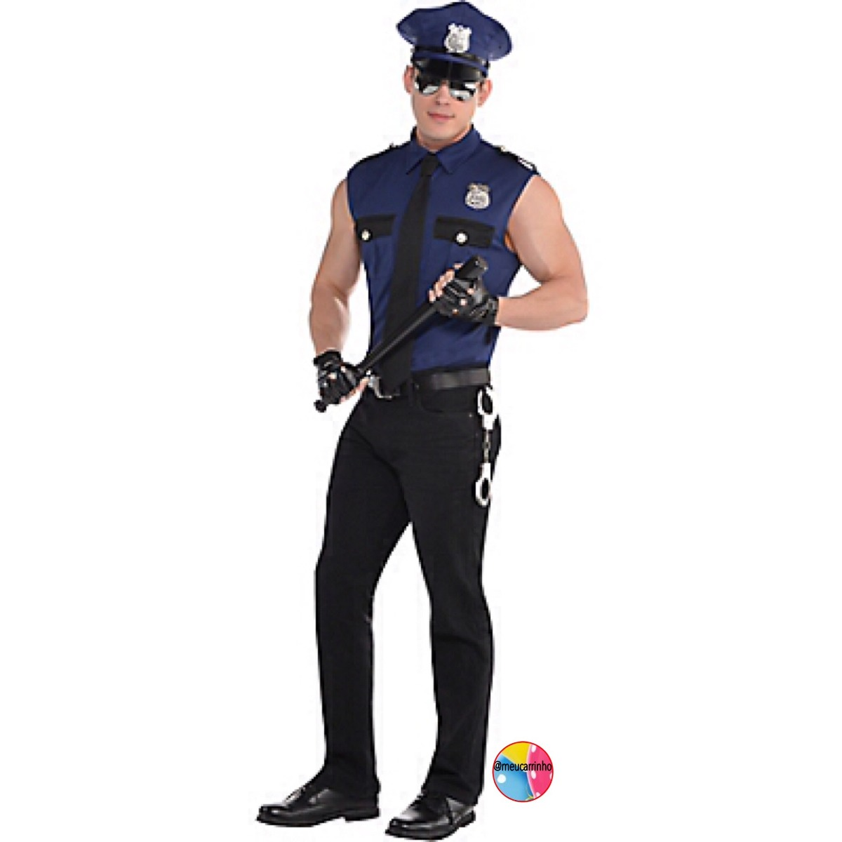 Fantasia Policia Ladrao - Encomenda- Entrega Rapida