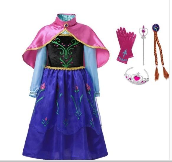 183ecc19c Fantasia Princesa Anna Frozen Vestido Ana - R  168