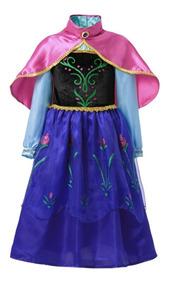fea11518b27475 Fantasia Princesa Anna Frozen Vestido Ana
