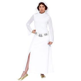 d8852ebfe Vestido Branco M · Fantasia Princesa Leia Adulto Star Wars Rubies Original