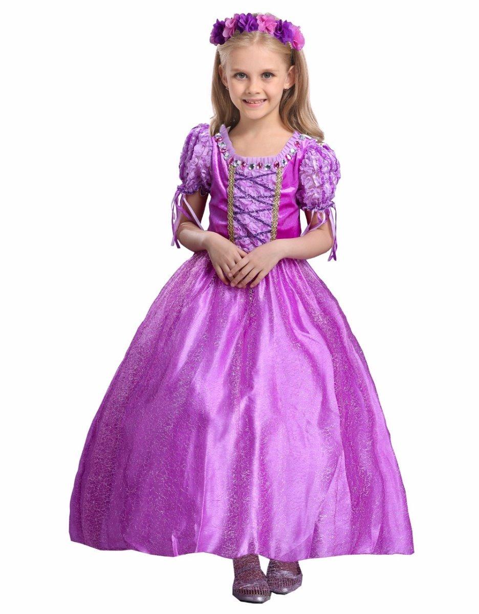 fantasia princesa rapunzel enrolados luxo frete grátis r 120 00