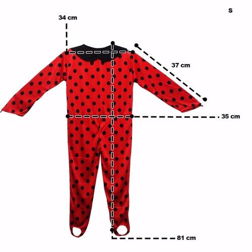 fantasia roupa infantil ladybug miraculous acompanha máscara