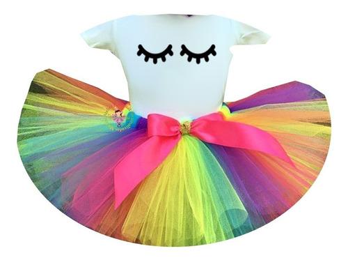 fantasia roupa infantil unicórnio olhos luxo colorido
