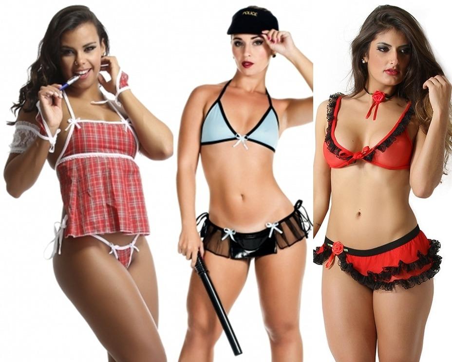 d1be907c0 Fantasia Sensual Lingerie Erotica Kit C 3 Uma De Cada Oferta - R ...