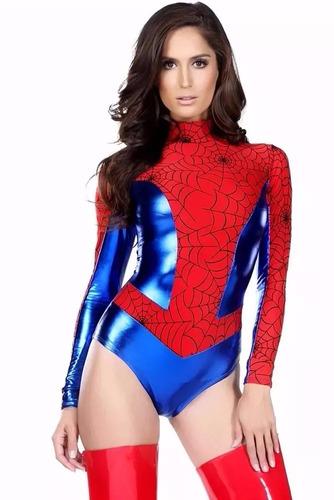 fantasia super luxo homem - aranha feminina - pronta entrega