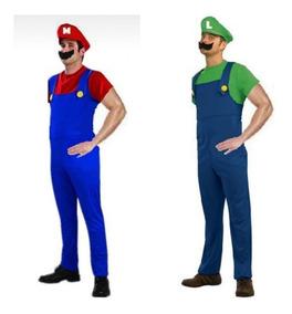 d08ceedfa8c4fc Fantasia Super Mario E Luigi Masculino Adulto