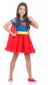 79b16fc87bc29e Fantasia Super Mulher Princesa Super Girl Sulamericana