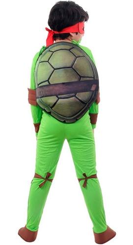 fantasia tartaruga ninja raphael luxo c/máscara e casco