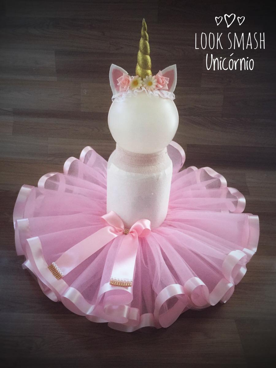 20b6662d3 Fantasia Unicórnio Personalizado Roupa Smash The Cake - R$ 145,00 em ...
