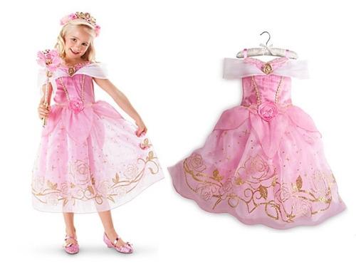 fantasia vestido a bela adormecida princesa aurora infantil