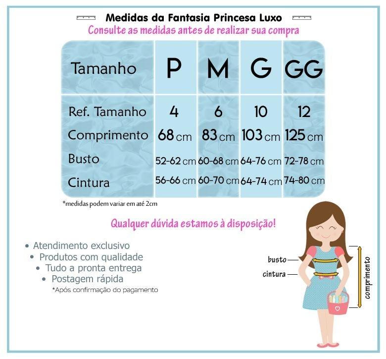 135b44558037 Fantasia Vestido Cinderela Infantil Luxo Com Luvas - R$ 106,90 em ...