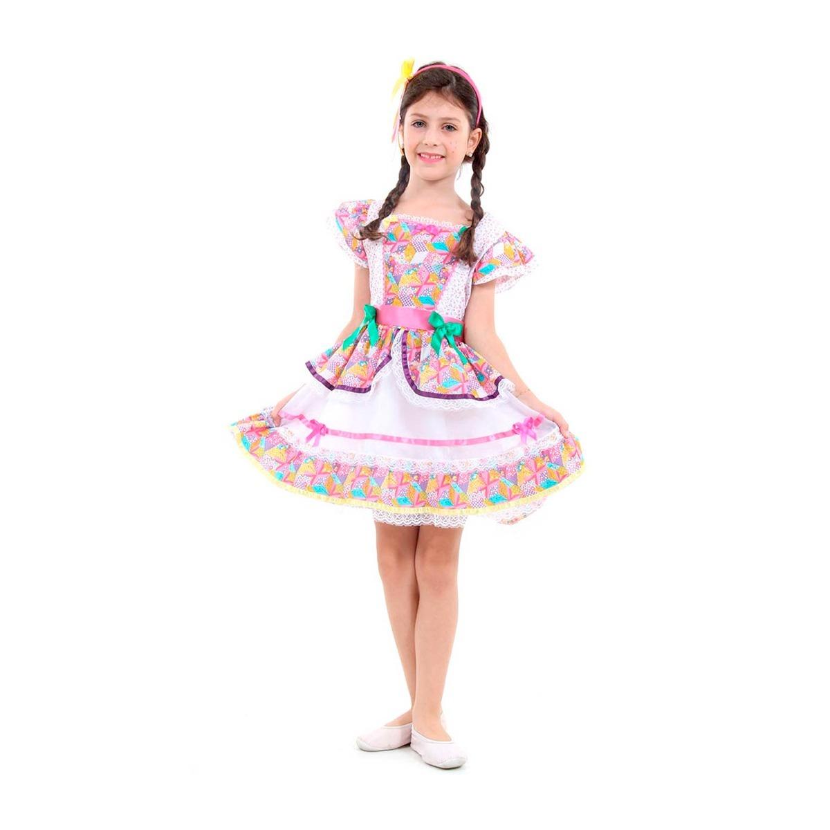 9114fbbc6 fantasia vestido de festa junina infantil c  tiara borboleta. Carregando  zoom.