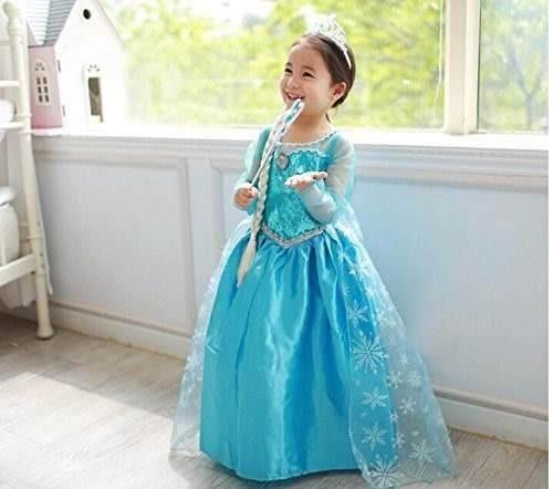 Fantasia Vestido Elsa Frozen Pronta Entrega P Criança
