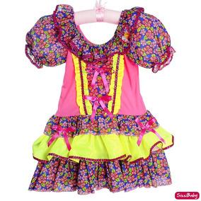 7c77c598b Vestido Festa Junina Infantil Fashion no Mercado Livre Brasil