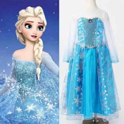 Fantasia Vestido Frozen Elsa Frozen Disney Pronta Entrega