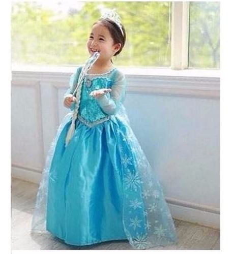 fantasia vestido frozen princesa elsa+ acessórios+ sapatilha
