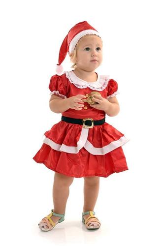 fantasia vestido mamae noel infantil