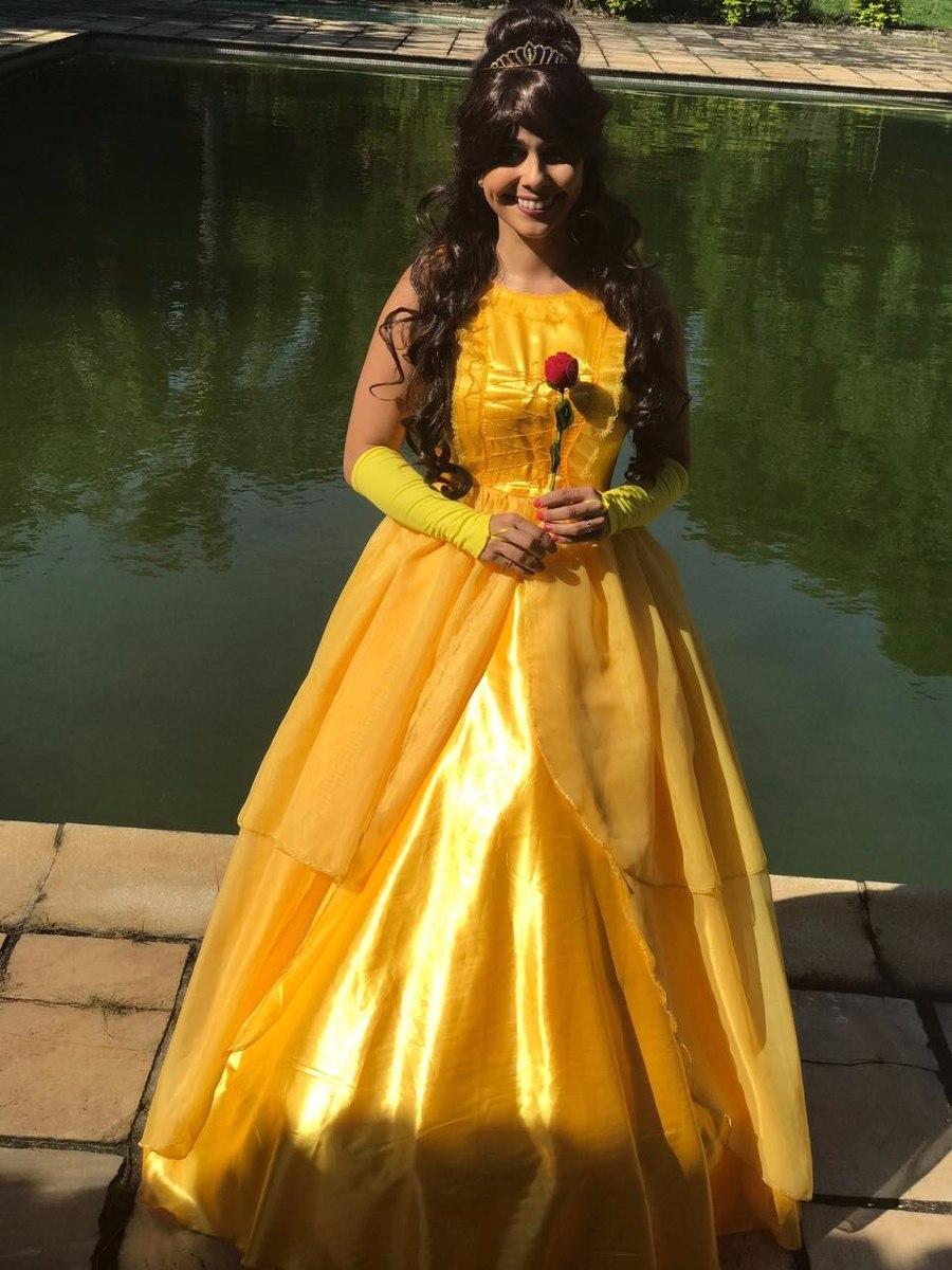 d2f5752f9 fantasia vestido princesa bela modelo novo adulto +luva. Carregando zoom.