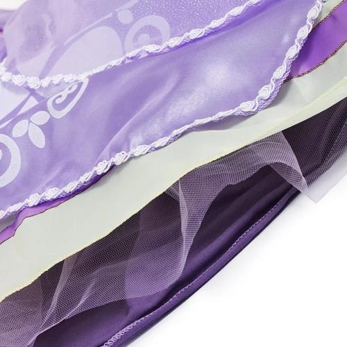 fantasia vestido princesa sofia luxo luvas coroa varinha