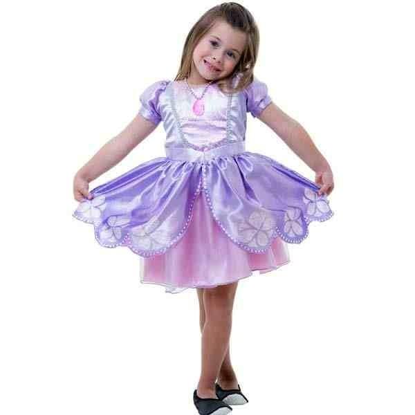 Fantasia Vestido Princesa Sofia Original Disney