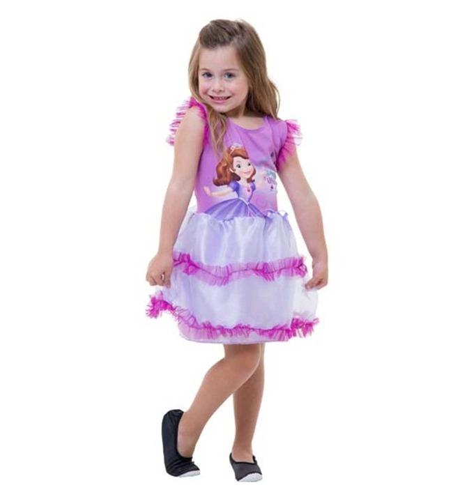Fantasia Vestido Princesa Sofia Original Para Festa Infantil