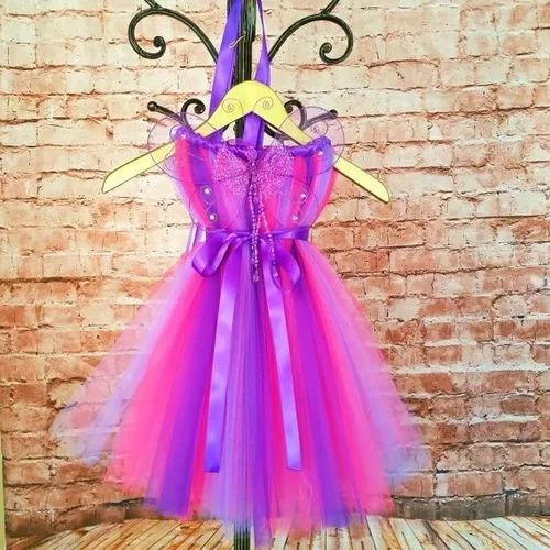 fantasia vestido tutu roupa fada tom sobre tom asa borboleta