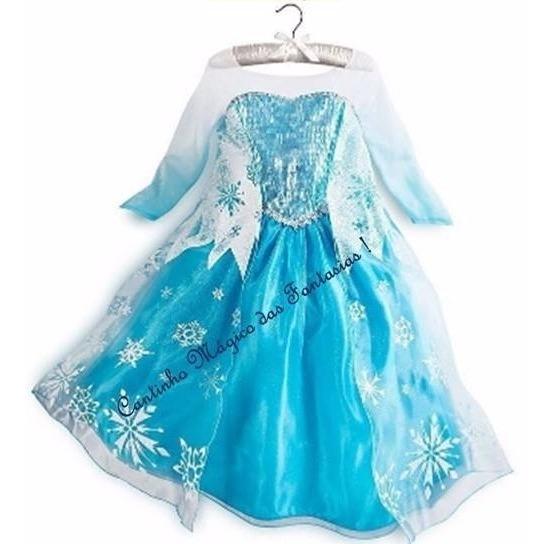 Fantasia Vestidos Princesas Elsa Frosen