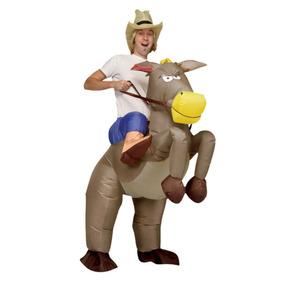 465b96c584449 Fantasia Cavalo E Caubói Inflável Engraçada - Cowboy Rodeio. R  199