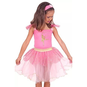 43a178ae90 Fantasia Vestido Bailarina Na Cor Rosa E Bege Adulto M no Mercado Livre  Brasil