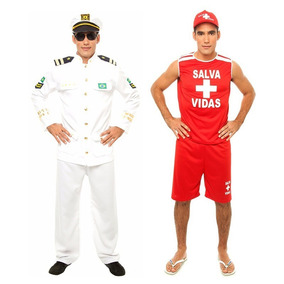 36bfda7bb5 Cap Capitao Marinha - Fantasias para Homens no Mercado Livre Brasil