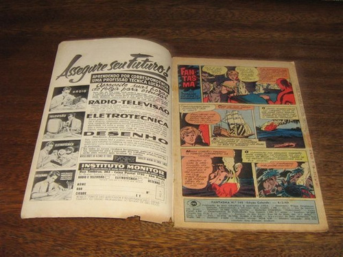 fantasma magazine n° 149 fevereiro/1969 rio gráfica editora