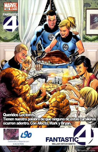 fantastic four #564 - millar - hitch - smith - inglés