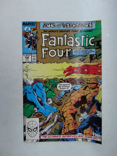 fantastic four nº 336! marvel comics jan 1990! em inglês!