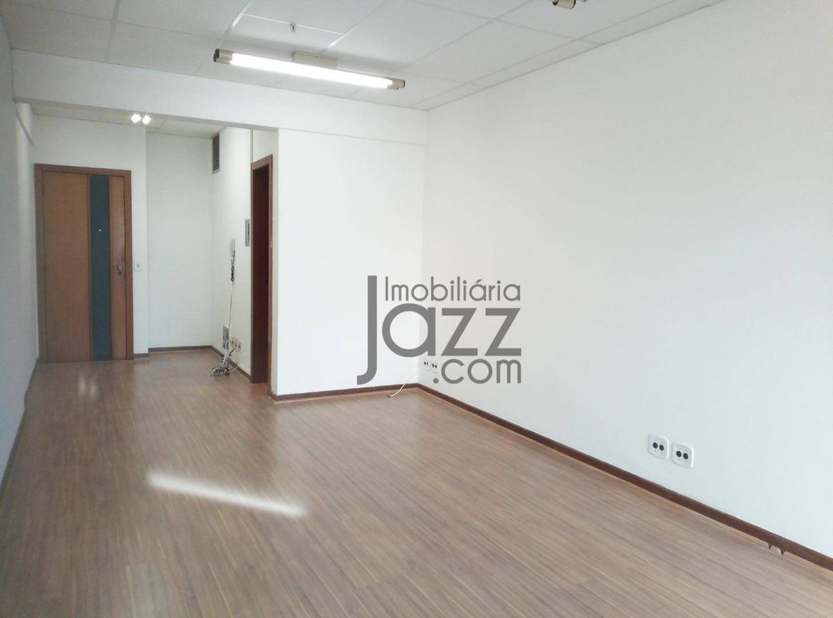 fantástica sala à venda, 35 m² por r$ 175.000 - av. barão itapura - botafogo - campinas/sp - sa0054