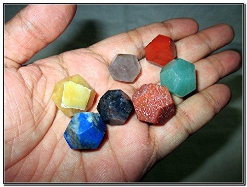 fantástico conjunto de dodecaedas de piedras